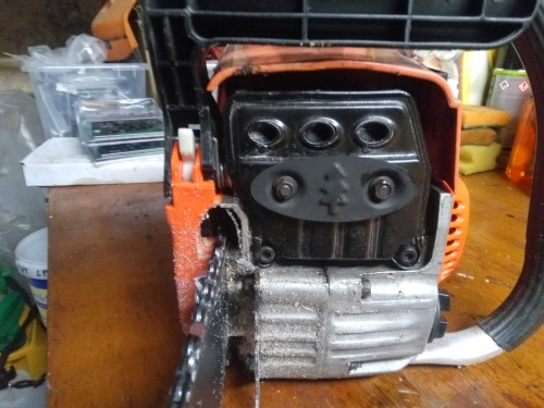 chinese chainsaw 3-port Muffler Mod